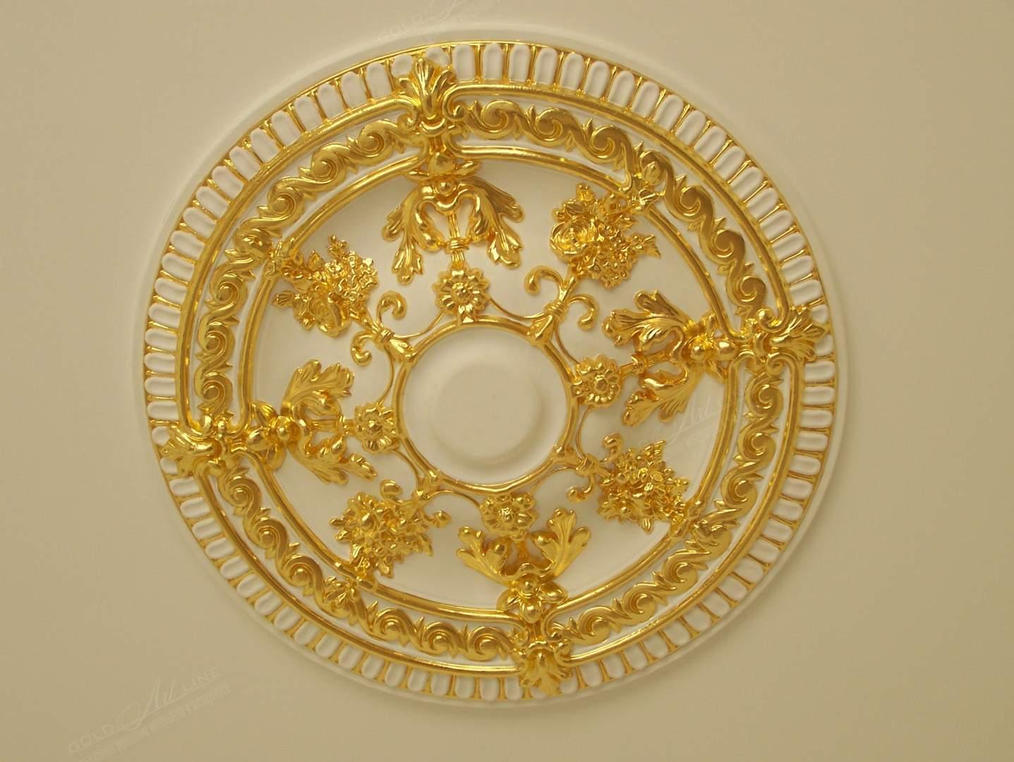 Как покрасить лепнину под золото