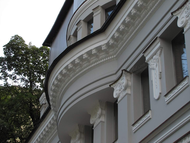 фасадный декор из бетона