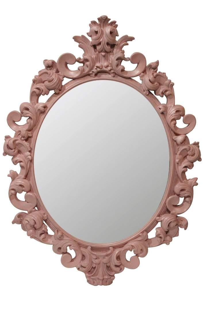 зеркало в розовой раме