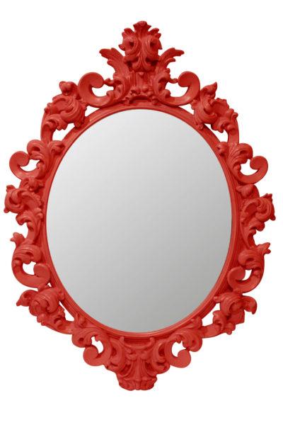 зеркало в красной раме rich red