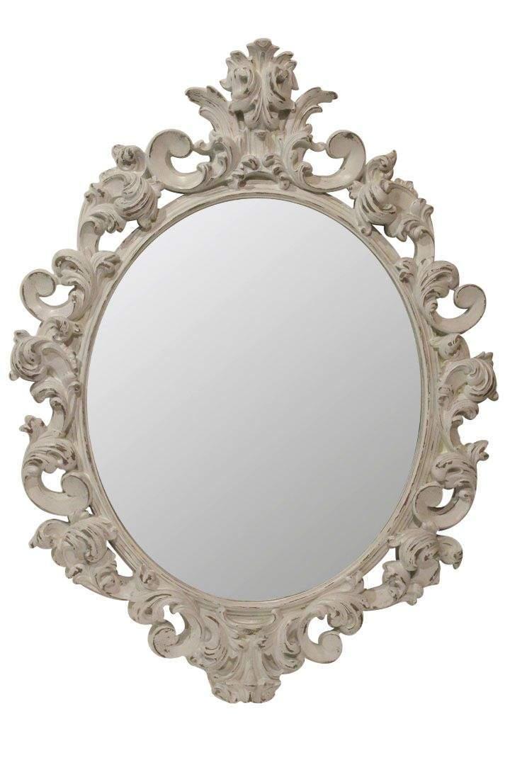 зеркало в белой раме white vintage