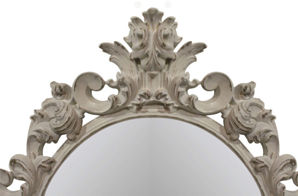 зеркало в белой раме на стену
