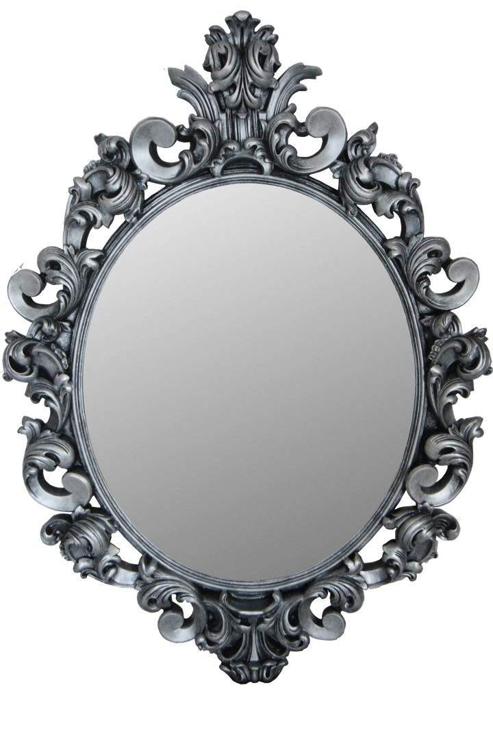 зеркало в серой раме